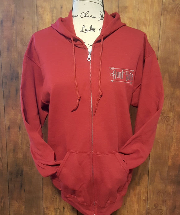 Cardinal Hunt Cute Full Zip Hoodie
