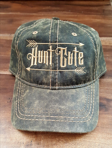 Olive Green with Tan Stitching Hunt Cute Hat