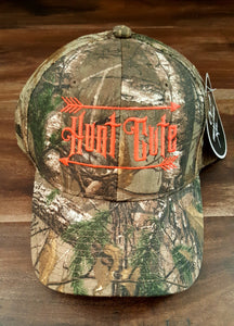 Realtree Camo Ball Cap with Bright Orange Hunt Cute