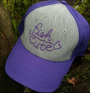 Purple and Grey Ball Cap