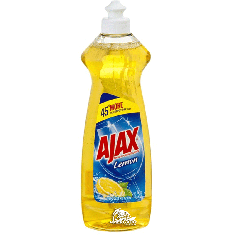 LAVAPLATOS LIQUIDO AJAX LIMON, 14-OZ/(414mL)
