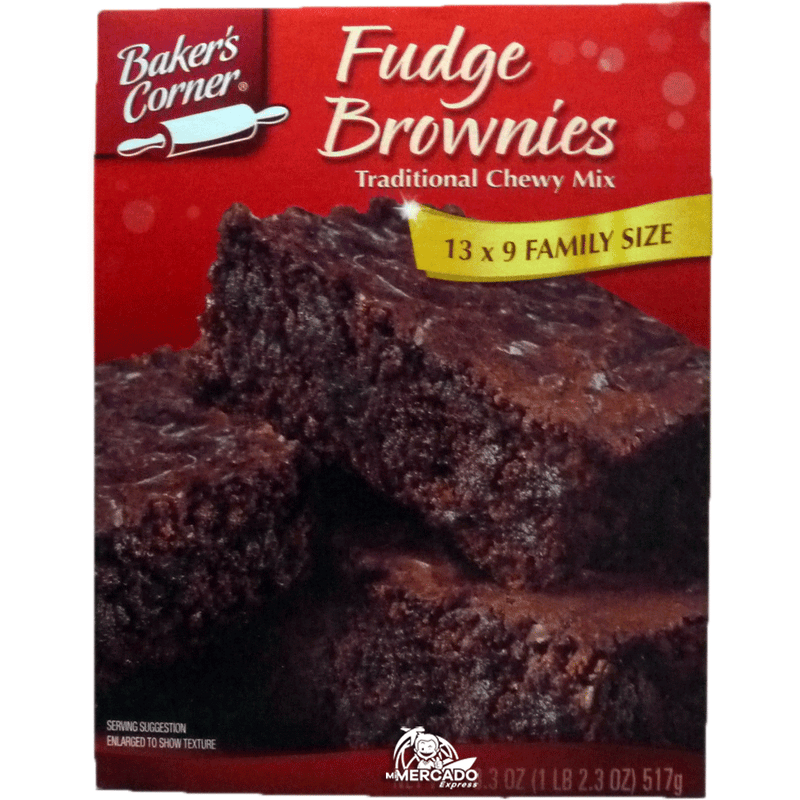 MEZCLA PARA FUDGE BROWNIES BAKERS CORNER