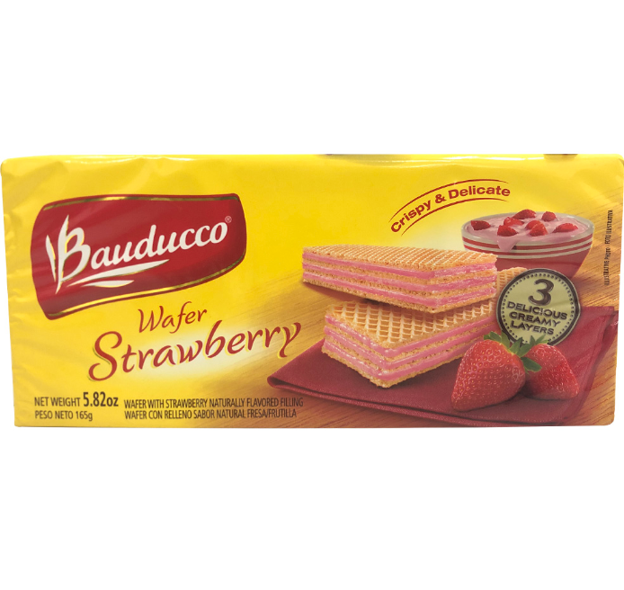 GALLETAS TIPO WAFERS CON FRESA  BAUDUCCO, 5.82-Oz/(165g)