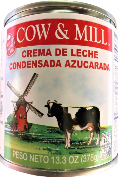 LECHE CONDENSADA COW & MILL, 13.3-Oz/(378g)