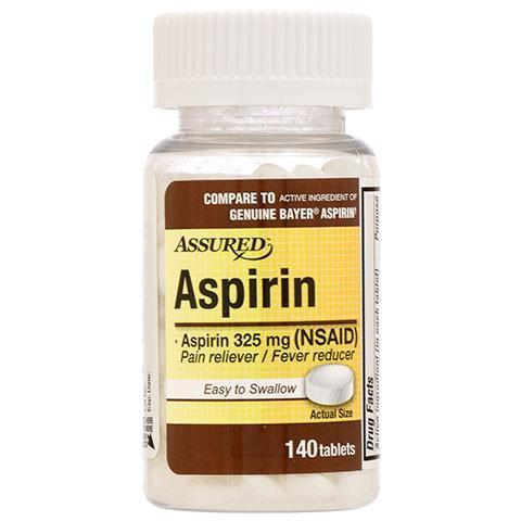 ASSURED MEDICINAS ASPIRINA / ALIVIO DOLOR REDUCTOR DE FIEBRE *Pre-Order