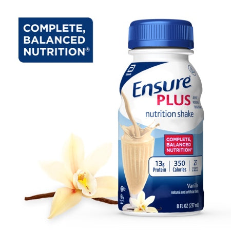 ENSURE PLUS, BATIDO NUTRICIONAL, SABOR VAINILLA, 8-FL Oz / (237 ml)