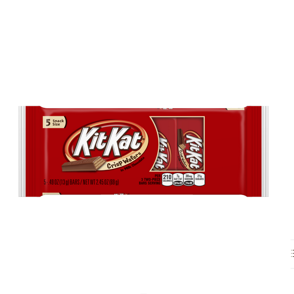 BARRAS DE GALLETAS CON CHOCOLATE KIT KAT, 2.45-Oz / (69 g)