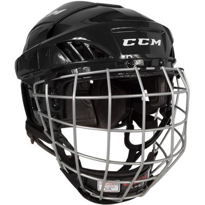 HELMET CCM FL40 COMBO BLACK MEDIUM
