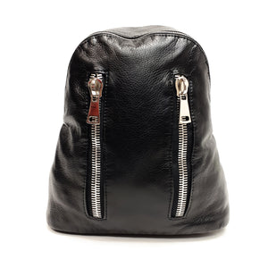 Backpack for Women with Silver Zippers