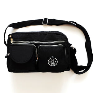 Nylon Crossbody bags | 2 front pockets | 2 colors | Avery