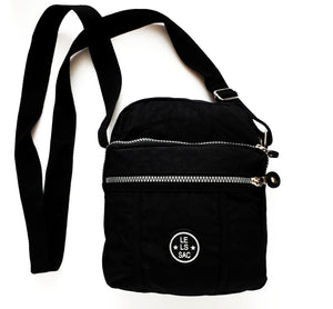 Nylon Crossbody bags | Water resistant | Black and Navy | Montana