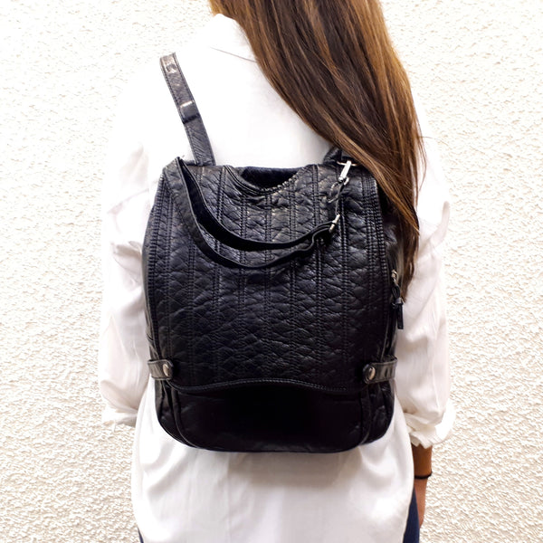 backpack with flap pattern