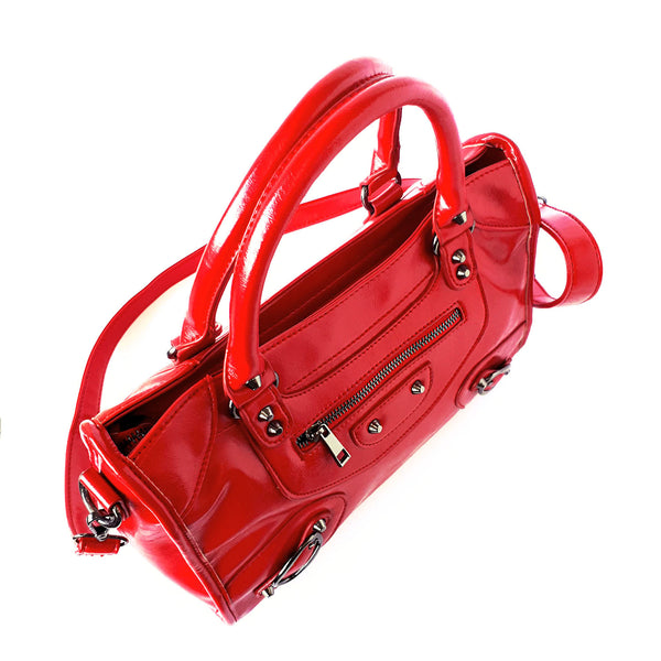 where can i buy a red satchel purse