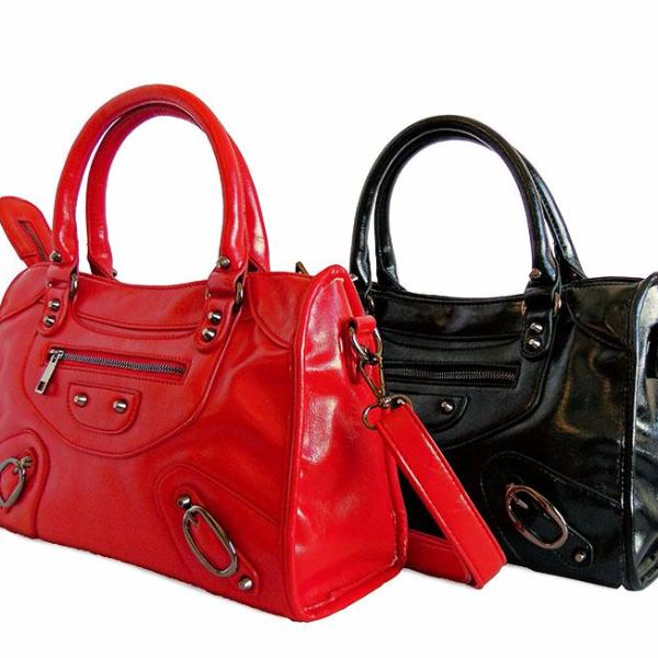 Lizbeth Purse | Red and Black
