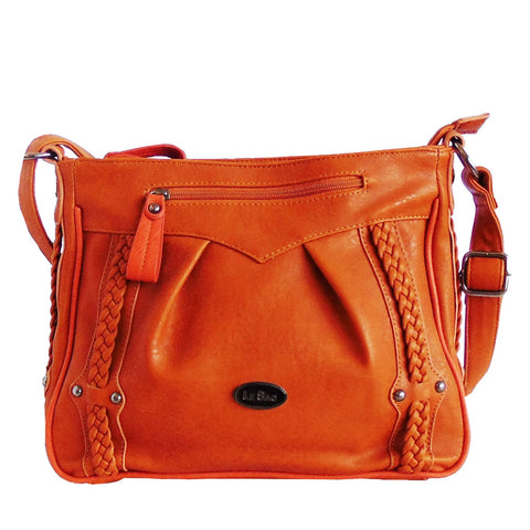 Shoulder bag | Crossbody | Burnt Orange and Brown