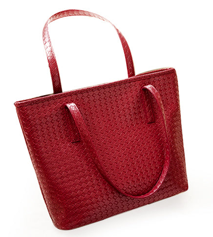 Tote Purse | Black, Red and Navy