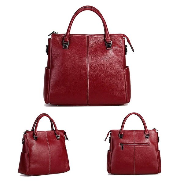 Tote Leather | Red and Black | GL1392 |
