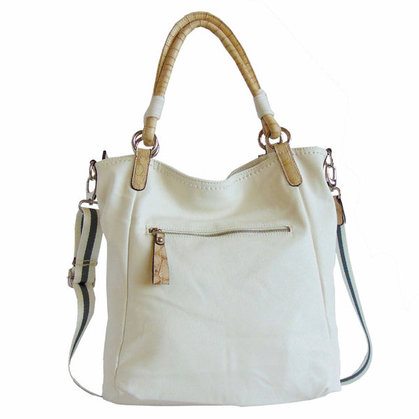 White Tote Purse | Adjustable Strap | Annie