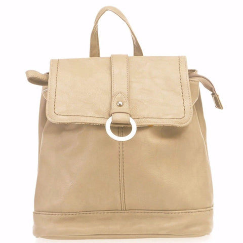 Backpack | Taupe and Black | Dina