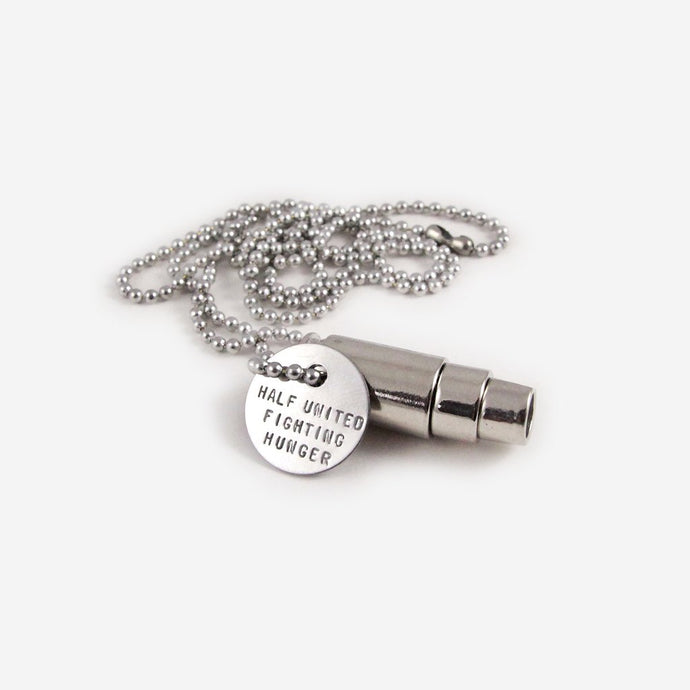 Half United Fighting Hunger Silver Necklace