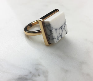 Square Geo-Marble Ring - DipT Co