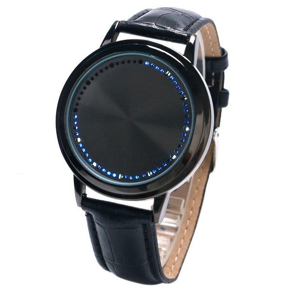 9f9a0f56c2 LED Touch Screen Blue Light Wrist Watch Men Women Sports Quartz Watch  Black/White Dial Smooth Clock
