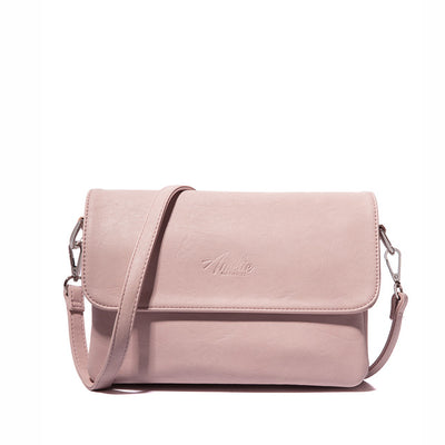 Crossbody bag casual flap pu solid soft zipper cover versatile single high quality bag - Sarahs Collection