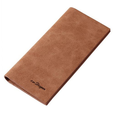 Men's Wallet Fashion Retro Luxury Brand Leather Purse High Capacity Long Wallets Slim - Sarahs Collection