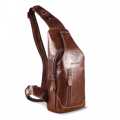 Genuine Leather Cross body Bags men casual messenger bag Small Brand Designer Male Shoulder Bag - Sarahs Collection