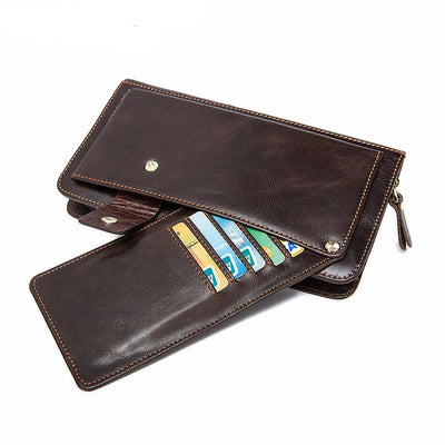 Multi-functional Genuine Leather Man Wallet Credit Card Men Wallets - Sarahs Collection