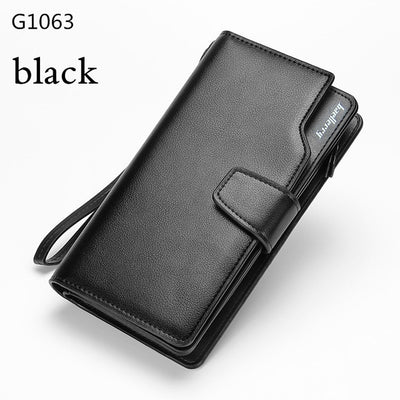 Wallet Luxury Men & Women Wallets Casual Male Clutch Leather Wallet Purse Card Holder Multi-function Money Bag - Sarahs Collection