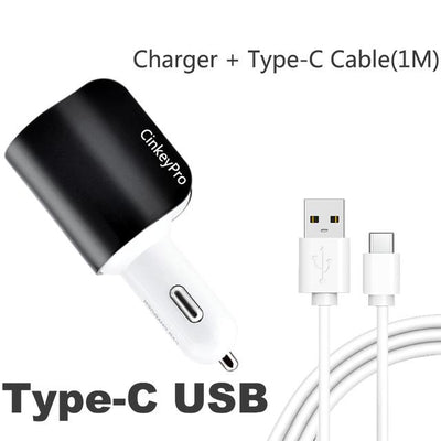 Car Charger Cigarette Lighter Adapter 2.1A 2 Port USB Car-Charger Mobile Phone Adapter Charging Type C for iPhone iPad - Sarahs Collection