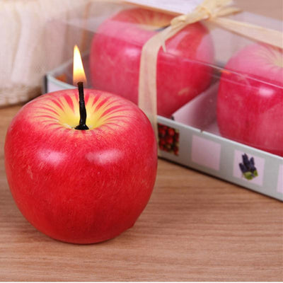 2pcs fruit shape candles wax birthday candle for Christmas Eve wedding Decoration Romantic confession Scene - Sarahs Collection