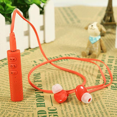 Sport Stereo Wireless Bluetooth Headset Collar Clip Earphone With Microphone Mini Portable Handsfree For iPhone Samsung PC - Sarahs Collection
