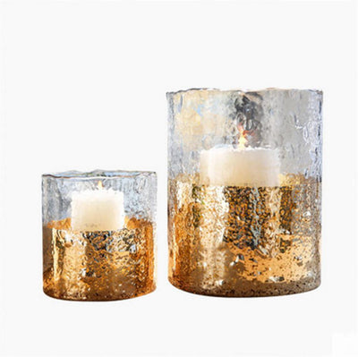 Glass Candle Holder Vogue Golden Color Luxury Vogue European Style Fragrance Oil Burner for Wedding Dinner Party Home Decor - Sarahs Collection