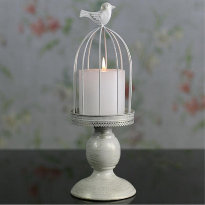 birdcage metal candle holder for home decoration or wedding, romantic candlelight dinner candlestick - Sarahs Collection