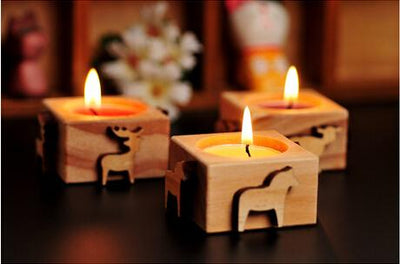 (4pcs/lot) Candle Holder Home Bar Coffer house Table Party Decoration Creative Gifts - Sarahs Collection