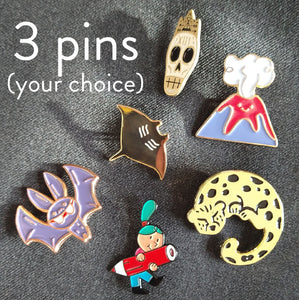 3 pins (your choice)