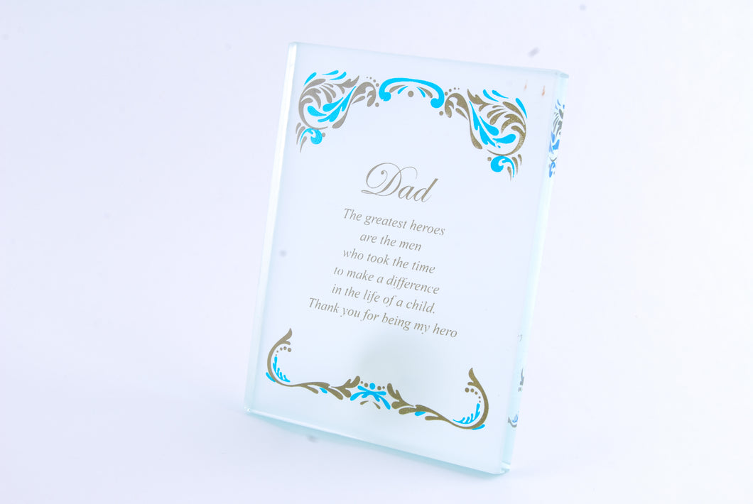 Family Crystal Plaques