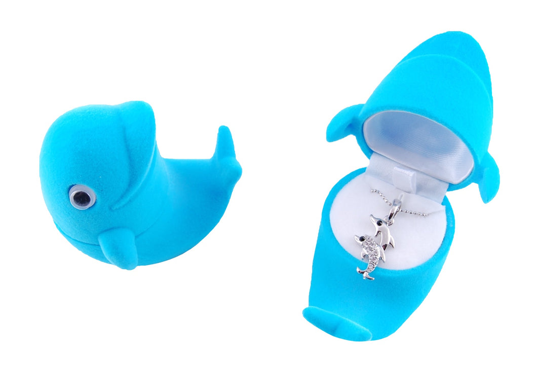 Dolphin Necklace in Dolphin Box