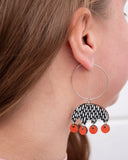 Kruunuvuokko Earrings Red