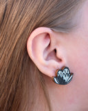 Symppis Mini Earrings Black/White