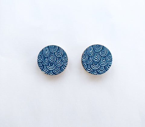 Laine mini Earrings Blue