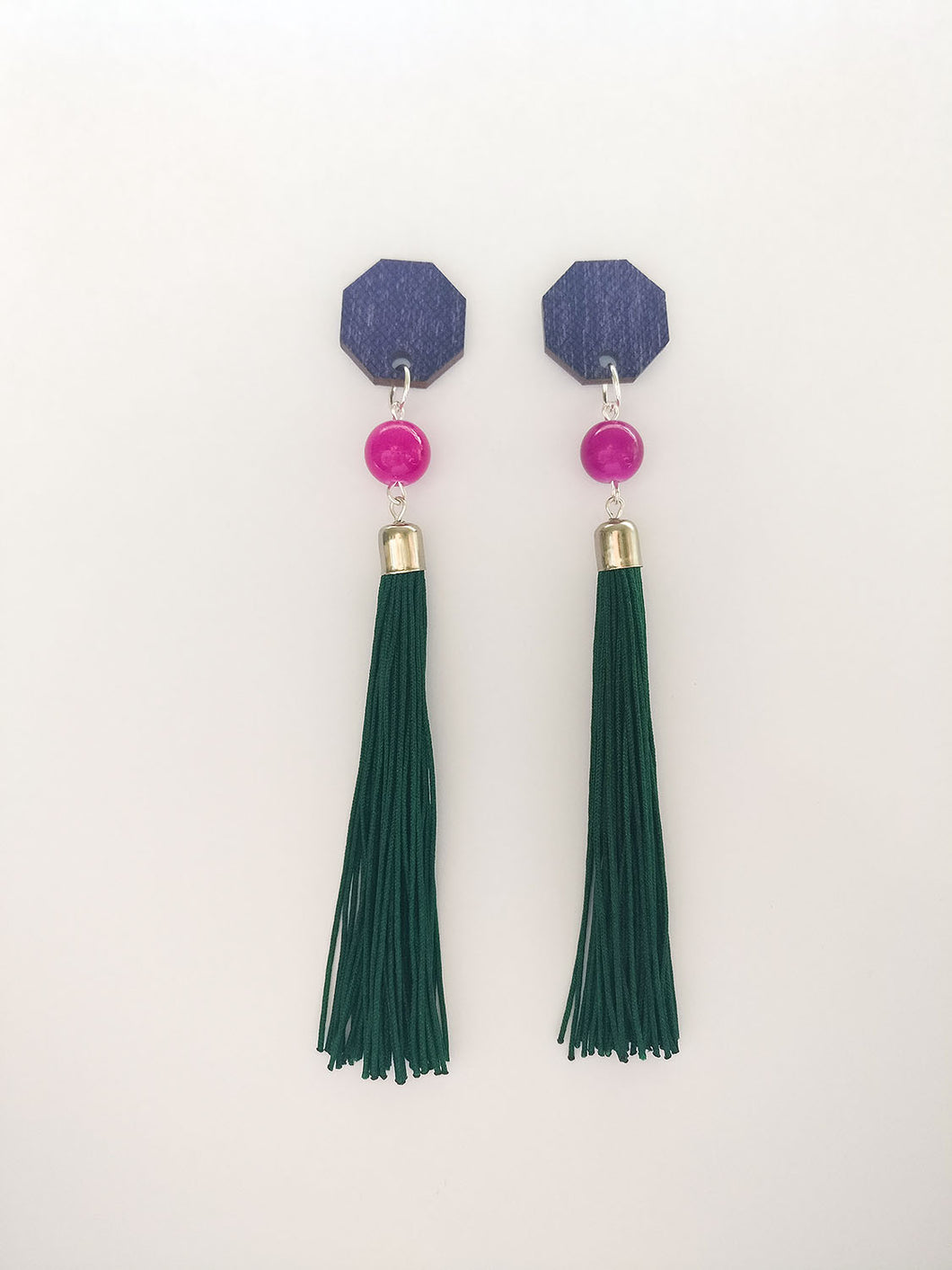 Muoto Earrings Dark Green