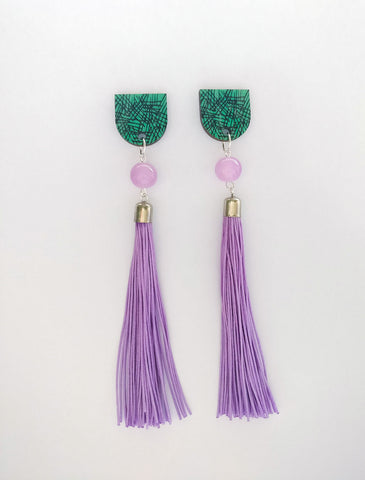 Muoto Earrings Lilac