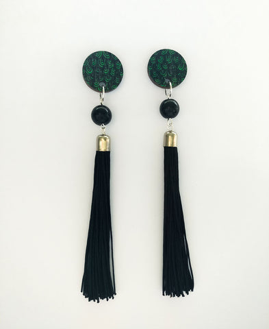 Muoto Earrings Black