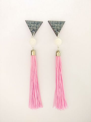 Muoto Earrings Pink