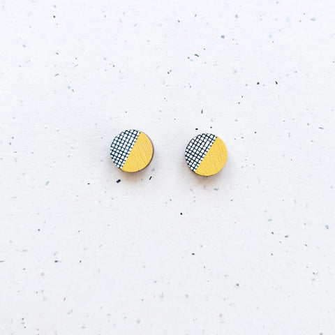 Hento Mini Earrings Yellow