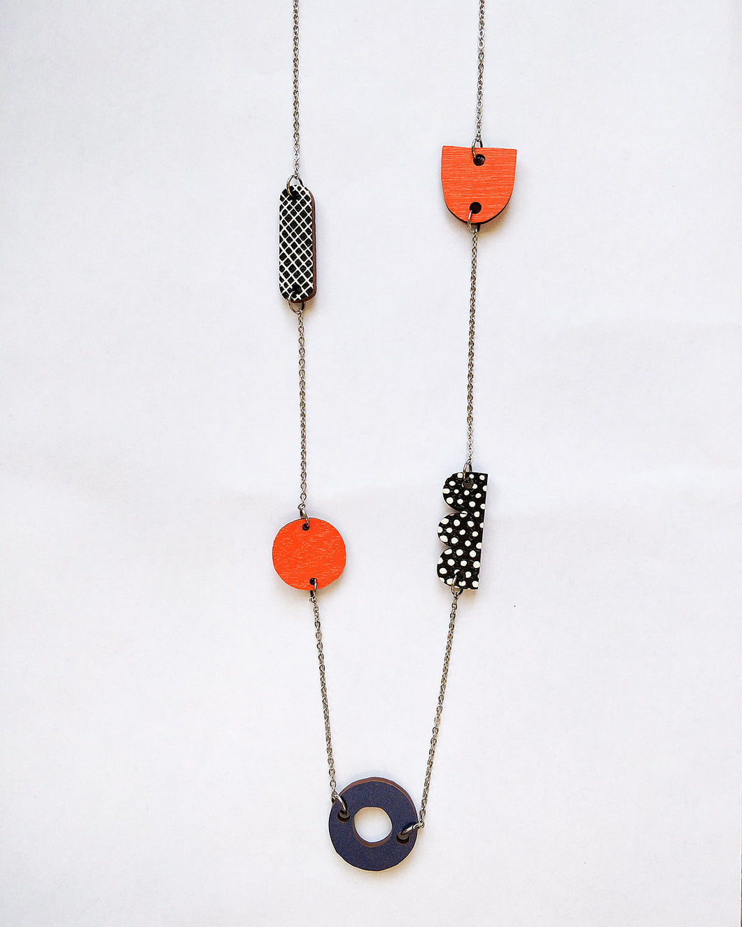 Horisontti Necklace Red/Dark Blue
