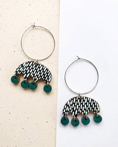 Kruunuvuokko Earrings Green